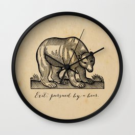 William Shakespeare, Exit Pursued by a Bear Wall Clock