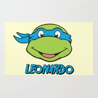 leonardo dicaprio Area & Throw Rugs featuring Leonardo by husavendaczek