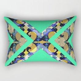 Feng Shui Color Therapy Vintage Silk Boho Brocade Print Rectangular Pillow