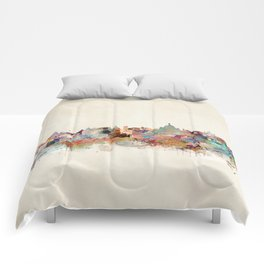 victoria canada skyline Comforters