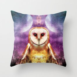 She shines all over the world Throw Pillow