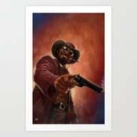 django Art Prints featuring Django by Andrea Mangiri