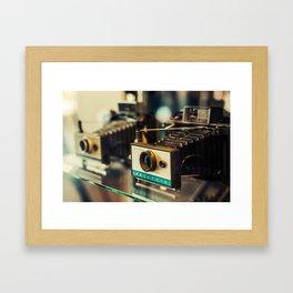 Vintage Instant Cameras Framed Art Print