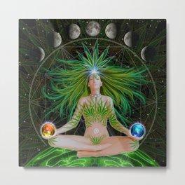 Emerald Goddess Metal Print