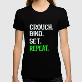 Top Funyn Rugby Crouch Bind Set Repeat Gift T-shirt