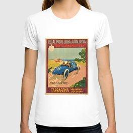 1922 Vintage Auto Motor Club Racing Armangue Trophy Tarragona Spain Advertising Poster T-shirt