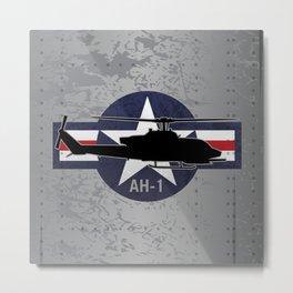 AH-1 Cobra Helicopter Metal Print