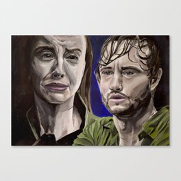 Abigail and Will, acrylic painting Canvas Print