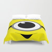 minion Duvet Covers featuring Evil Minion by shannon's art space