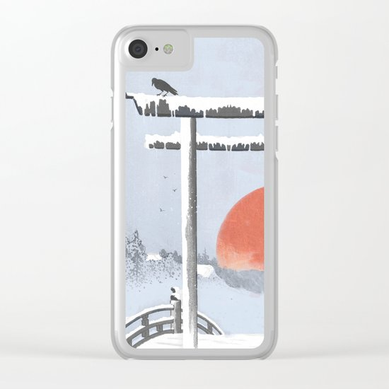 Sundown on the reserve Clear iPhone Case