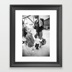 Upset Framed Art Print