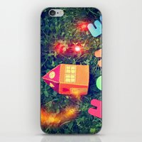 home sweet home iPhone & iPod Skins featuring HOME by Julia Kovtunyak