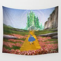 oz Wall Tapestries featuring Alice in Oz by EsraelRosales