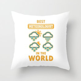 Climate Nature Earth Atmosphere Heat Wind Season Weather Best Meteorologist Gift Throw Pillow