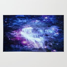 Magical Waterfall Blue Purple Rug