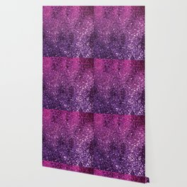 Purple Pink Ombre Lady Glitter #1 #shiny #decor #art #society6 Wallpaper
