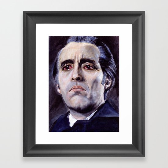 Christopher Lee as Dracula: He is the embodiment of all that is evil. Framed Art Print