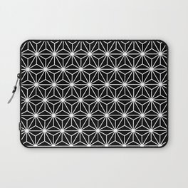 Geometric Flowers Isosceles Triangle White Line Laptop Sleeve