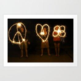 peace love camp Art Print