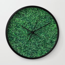 Green Grassy Texture // Real Grass Turf Textured Accent Photograph for Natural Earth Vibe Wall Clock