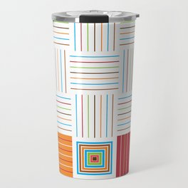 Fiesta Colors Pattern Travel Mug
