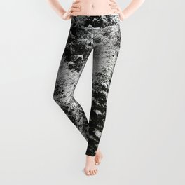 Fir Forest Winter Snow IV - Nature Photography Leggings