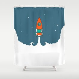 Not rocket science Shower Curtain