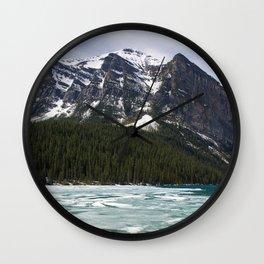 Winter Photography: Frozen Lake - Lake Louse, Banff, Canada Wall Clock
