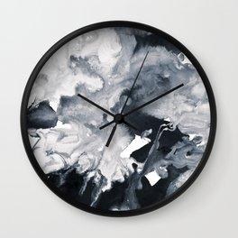 inkblot marble 8 Wall Clock
