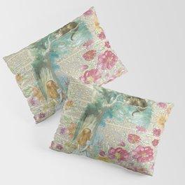 Vintage Floral Alice In Wonderland Pillow Sham