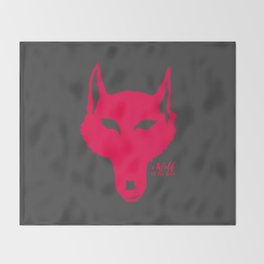 A Wolf at the door Throw Blanket