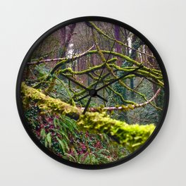 Green Burst Wall Clock