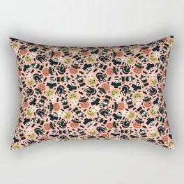 Halloween Gang Pink Rectangular Pillow