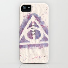deathly hallows (in purple) iPhone Case