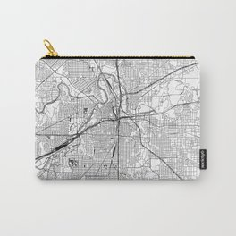 Fort Worth White Map Carry-All Pouch
