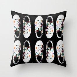 sneakin' around Throw Pillow