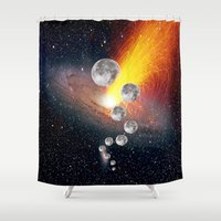 sci fi Shower Curtains featuring Sci-Fi Space Universe by  Agostino Lo Coco