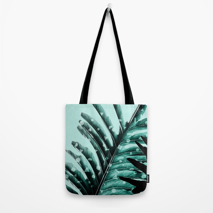 Leaves 2 Geometry Tote Bag