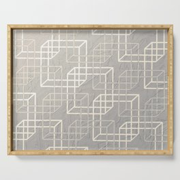 Linked Squares Serving Tray