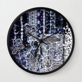 Winter night garden Wall Clock