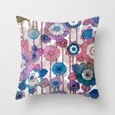 Hanging Flower Garland Throw Pillow