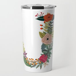 Monogram Letter J Travel Mug
