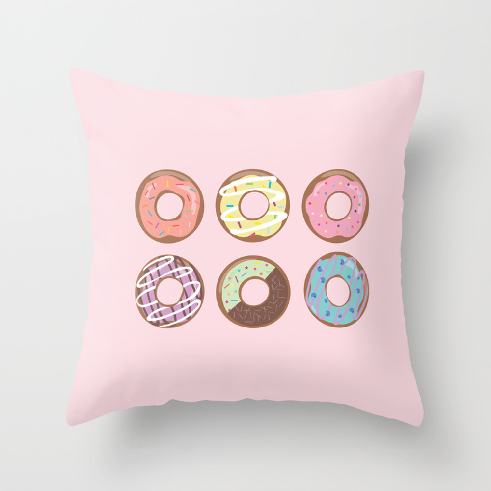 Donut Throw Pillow by Katherinenelson