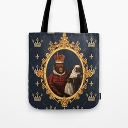 Monkey Queen with Pug Baby Tote Bag