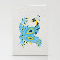 peacock Stationery Cards featuring Peacock by Cat Coquillette