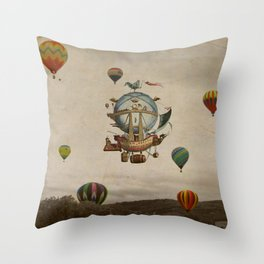 La Minerve 1803  travel in style Throw Pillow