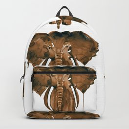 Mother Elephant Brown Backpack