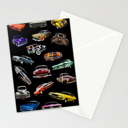 Car Collage Stationery Cards