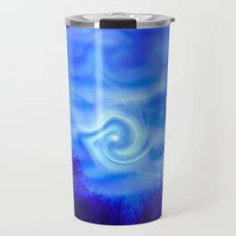 Blue night Moon Travel Mug