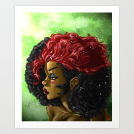 Kizzy Hair out Art Print